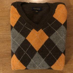 100% lambswool argyle sweater
